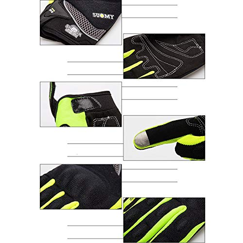 AINIYF Full Finger Motorcycle Gloves | Motocross Anti-skid Slip Breathable Cycling Racing Locomotive Touchscreen Outdoor Gloves Male Summer Knight Equipment (Color : Green, Size : XXL) by AINIYF (Image #5)