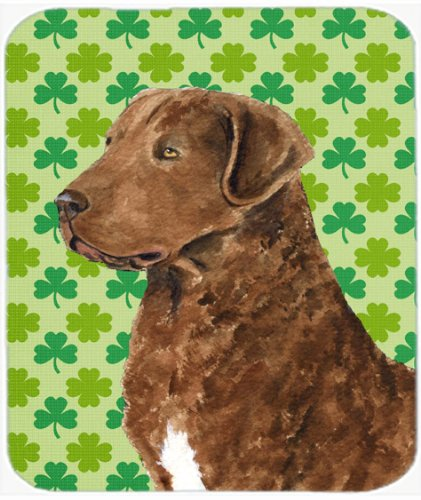 Caroline's Treasures Mouse/Hot Pad/Trivet, Chesapeake Bay Retriever St. Patrick's Day Shamrock (Shamrock Bay)
