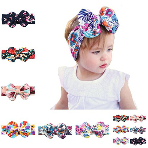 6 Pack Baby Girls Big Hair Bows Headbands,Multicolor Hair bands for Toddlers