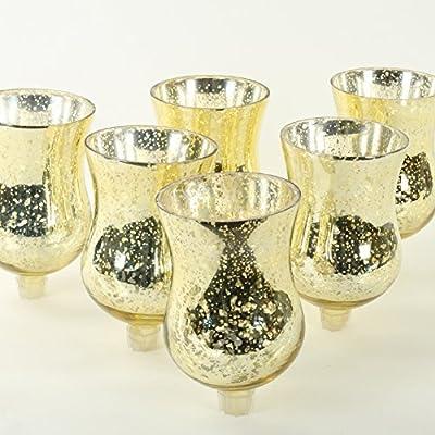 Koyal Wholesale Candelabra Hurricane Glass Shades, Bulk Set of 6