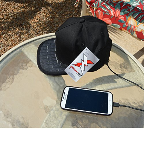 5690512d42a Amazon.com  Revolt Solar USB Charger Snapback Hat for Cell Phones and USB  Devices. Perfect for Your Busy Summer on The go!  Cell Phones   Accessories