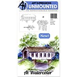 Art Impressions Cling Rubber Stamp Sets Covered Bridge, 3'' x 4''