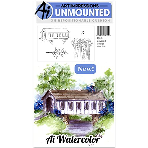 Art Impressions Cling Rubber Stamp Sets Covered Bridge, 3'' x 4'' by Art Impressions