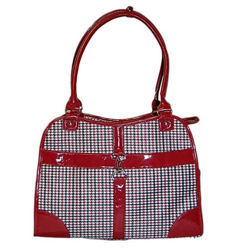 Dog Cat Red Houndstooth Pet Carrier Small For Sale
