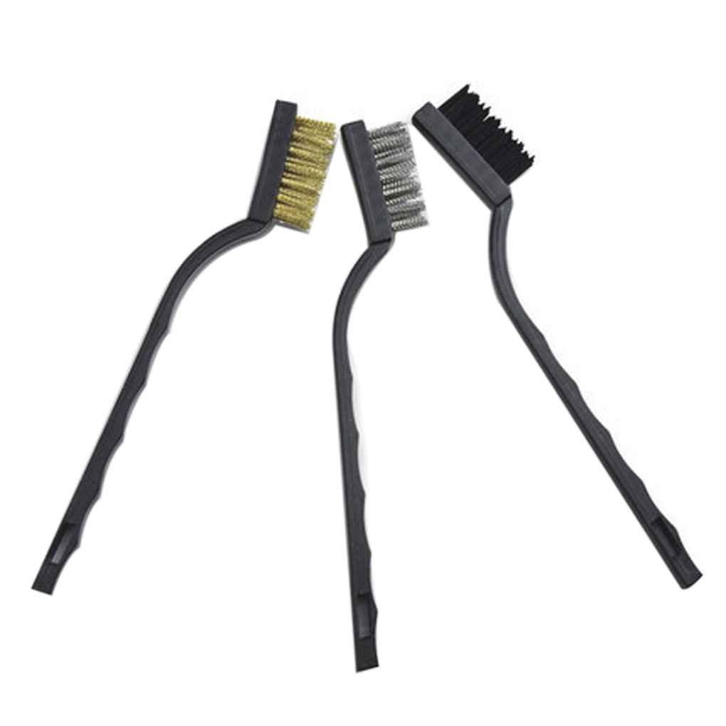Regard Natral 7 Pulgadas Mini Limpieza Desescamado Inoxidable Industrial del Acero de Nylon cepillos de Alambre