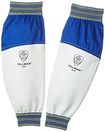 (Tillman 9215 Goatskin / FR Leather Goatskin and Cotton Protective Welding Sleeves, 1 Pair)