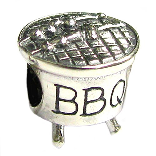 Sterling Silver BBQ Bead Charm For European Charm Bracelets