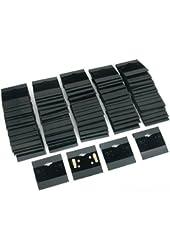 1 X Earring Display Hang Cards Black Flocked 2 X 2 Inch (100)