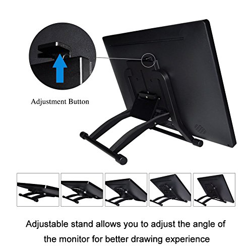 Ugee UG-2150 21.5 Inches LED Graphics Monitor IPS Pen Display HD Resolution Drawing Monitor Dual Monitor with Adjustable Stand, 2 Rechargeable Pens, 1 Drawing Glove, 1 Screen Protector by Ugee (Image #4)