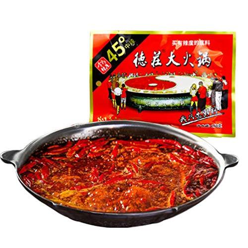 (Chongqing Specialty: De Zhuang Hotpot Seasoning Hotpot Condiment or Seasoning or for Chuan Chuan Xiang or Ma La Tang 150g/5.3oz 重庆德庄火锅底料 (medium hot))