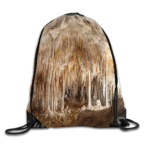 Men's Women's Carlsbad Caverns Leather Reinforced Corners Water Resistant Beam Port Travel Teamsport Formation Rucksack Gymbag Gym Drawstring Bags Sackpack - Shopping Carlsbad