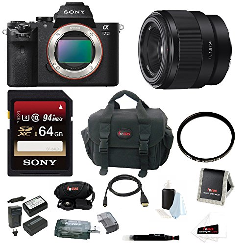 Sony Alpha a7II Mirrorless Digital Camera  w/ 50mm F1.8 Lens