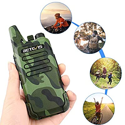 Retevis RT22 Walkie Talkies FRS Rechargeable UHF 16 CH VOX Emergency Security Outdoor 2 Way Radios with Earpiece 2 Pin Covert Air Acoustic ( 2 Pack)