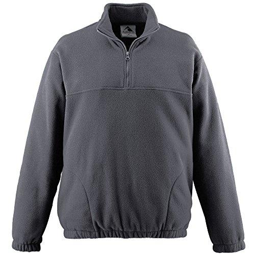 Augusta Sportswear MEN'S CHILL FLEECE HALF-ZIP PULLOVER XL Charcoal - Chill Fleece Augusta
