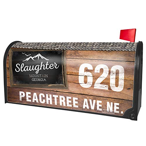 NEONBLOND Custom Mailbox Cover Mountains Chalkboard Slaughter Mountain - Georgia]()