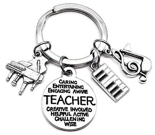 - Piano Teacher Keychain, Piano Keychain, Music Keychain, Music Teacher Keychain, Music Note Keychain, Musical Instrument Keychain, Piano Keyboard Charm, Music Teacher Gift, Piano Teacher Key Ring