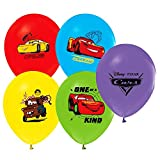 """Disney Cars Balloons 12"""" Pixar Latex Party Supplies Birthday 1 2 3 Decorations Lightning McQueen Tow Mate Mater Rayo, Package of 12 Assorted Set"""