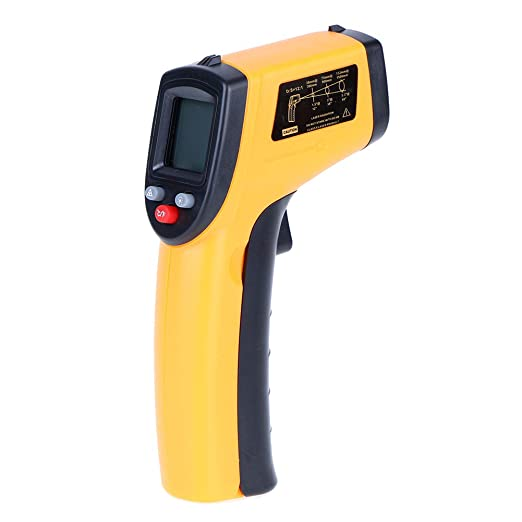 XINFULUK Infrared Thermometer Low Power Consumption LCD Backlight Display Data Hold Function Laser Sign Display 1 Set