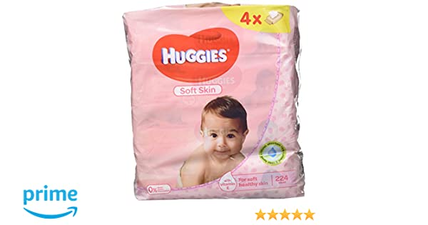 Huggies Soft Skin Toallitas para Bebé - Paquetes de 4 x 56 Unidades - Total: 224 Unidades: Amazon.es: Amazon Pantry