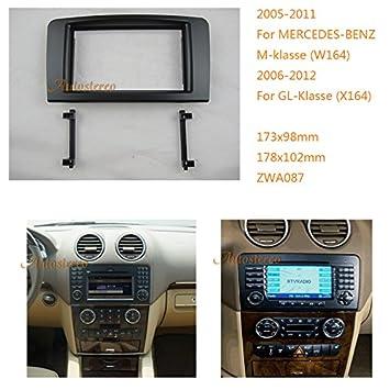 zwnav marco embellecedor de radio de coche para Mercedes-Benz M-Klasse (W164