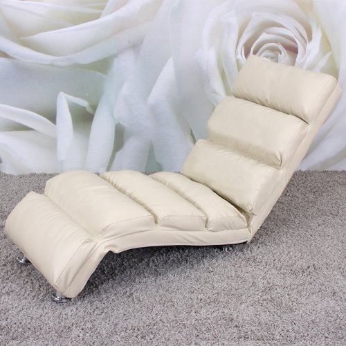Piel revestida promafit Diván sillón sofá tumbona crema ...