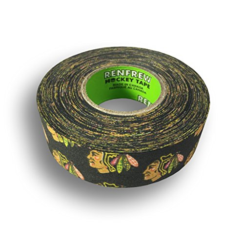 fan products of Renfrew, NHL Team Cloth Hockey Tape (Chicago Blackhawks)