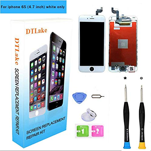 - Premium Screen Replacement, Compatible iPhone 6S 4.7inch LCD Replacement Screen with 3D Touch Screen Digitizer Fram Assembly Full Set + Free Tools(White)