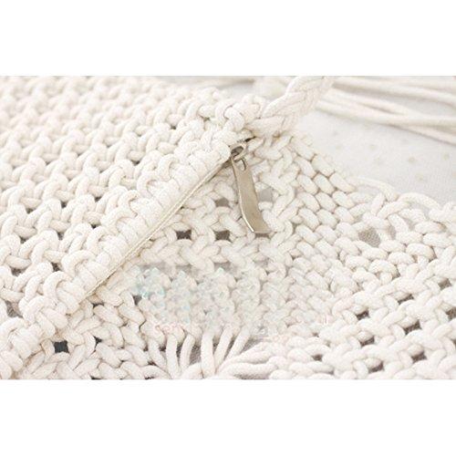 Casual Pt2 Bag Abuyall Tassel Summer Bag Beach Weave Messenger Large Straw Shoulder Women ax7HI