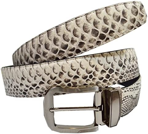 [해외]Authentic Snake Skin Men`s Genuine Python Belly Leather Pin Belt / Authentic Snake Skin Men`s Genuine Python Belly Leather Pin Belt