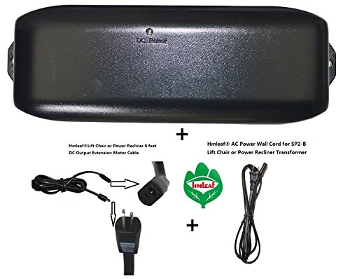 - HmleafOkin Power Recliner SP2-B or Lift Chair Power Supply Transformer with Battery Backup+AC Power cord+Motor cable