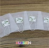 1000pcs/lot Corn Fiber Tea bags PLA Biodegraded Tea Filters Quadrangle Pyramid Heat Sealing Filter Bags Customized logo