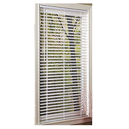 Amazon Com Project Source 1 In Cordless White Vinyl Mini Blinds
