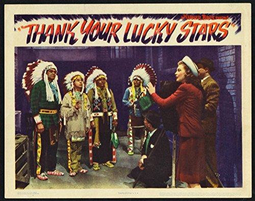 Thank Your Lucky Stars (1943) Original Scene Lobby Card Movie Poster 11x14 Very Fine Condition EDDIE CANTOR in Indian wardrobe JOAN LESLIE Directed by DAVID BUTLER