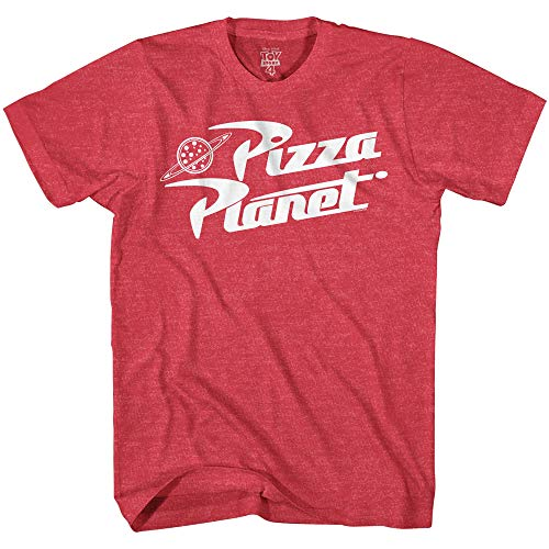 Juvy Heather T-shirt - Disney Pixar Toy Story Pizza Planet Boys Toddler Juvy Humor Funny Tee T-Shirt(Heather Red,Small)