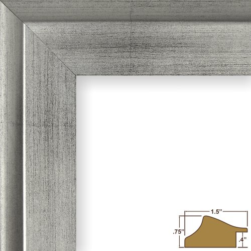 Craig Frames 203313 8 by 12-Inch Picture Frame, Smooth Wrap Finish, 1.25-Inch Wide, Antique Silver