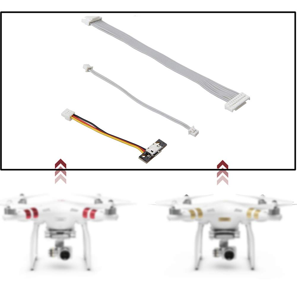LYXMY Drone Connect Cable Set, Gimbal Signal, Visual Postioning ...