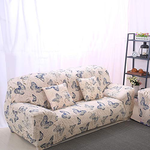 Lamberia Printed Sofa Cover Stretch Couch Cover Sofa Slipcovers for Couches and Loveseats with One Pillow Case (Butterfly, Loveseat) (Cheap Sofa Buy)