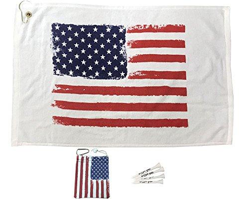 Giggle Golf USA Towel & Tee Bag Combo