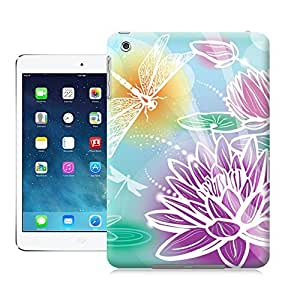 Unique Phone Case Colorful dragonfly lotus pattern Hard Cover for ipad mini cases-buythecase