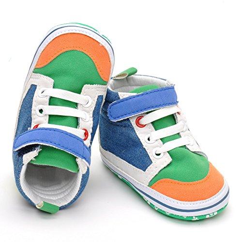 Baby Boy Color Top Zapatillas Lienzo Guantes
