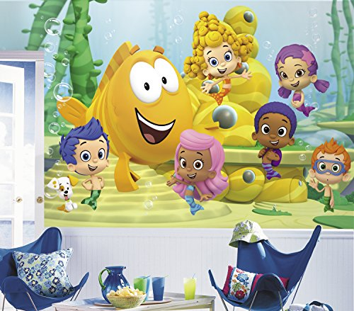 RoomMates Bubble Guppies  Removable Wall Mural - 10.5 feet X 6 feet