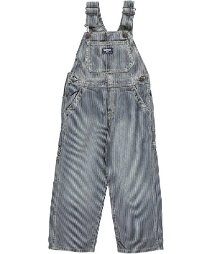 OshKosh B'gosh Little Boys' Denim Overalls (2T, Hickory Stripe) -