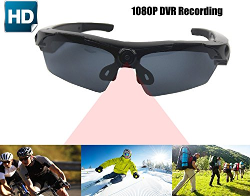 JOYCAM Sunglasses with Camera Full HD 1080P Video Recording Polarized UV400 DVR Eyeglass Camcorder for Outdoor - Hd Sunglasses Camera