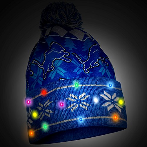 bcd60e32 Detroit Lions Exclusive Busy Block Printed Light Up Beanie | Weshop ...