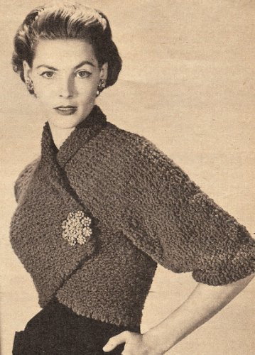Vintage Home Vintage Knitting Pattern To Make Knitted Wrap Shrug