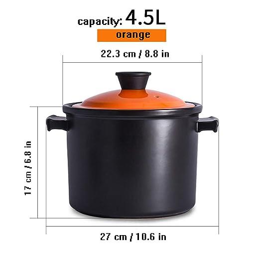 Horno de cerámica holandés de 6.0 litros, olla de estofado con ...