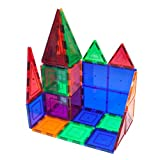 Toys : PicassoTiles 60 Piece Set 60pcs Magnet Building Tiles Clear Magnetic 3D Building Blocks Construction Playboards - Creativity beyond Imagination, Inspirational, Recreational, Educational, Conventional