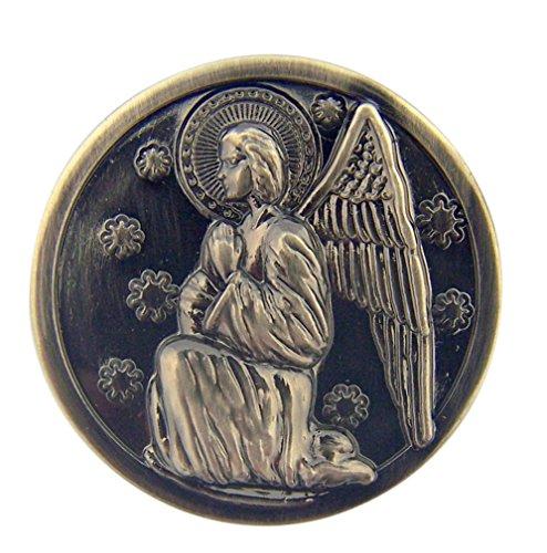 Silver Tone Faithful Protector Pocket Token with Prayer - Guardian Angel ()
