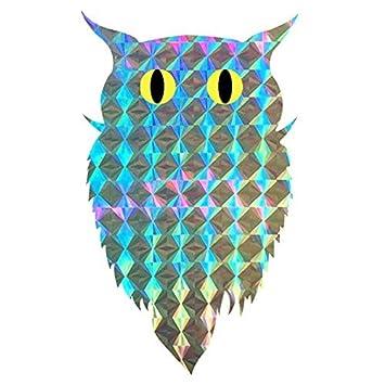 Amazoncom Bird Repellent Blinder Reflective Self Adhesive Owl - Window alert hummingbird decals amazon