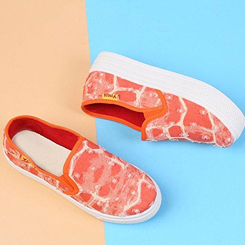 Bateau Casual Chaussures Running Confort Souple Mode Frestepvie Shoes Imprimé Voile Fille Sport Femme Toile Tennis fxwZPSqB